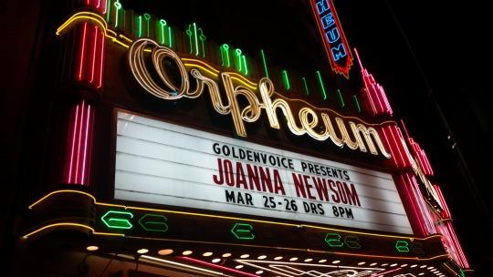 joanna newsom orpheum